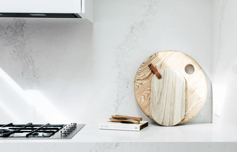 caesarstone calacutta nuvo countertop for hamptons style kitchen design