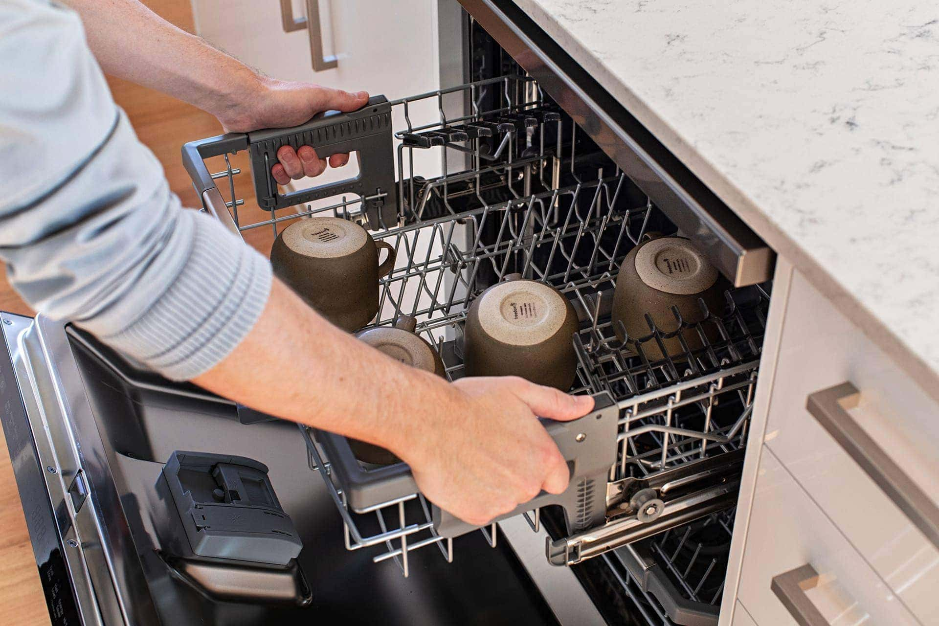 lg quadwash dishwasher with adjustable drawer