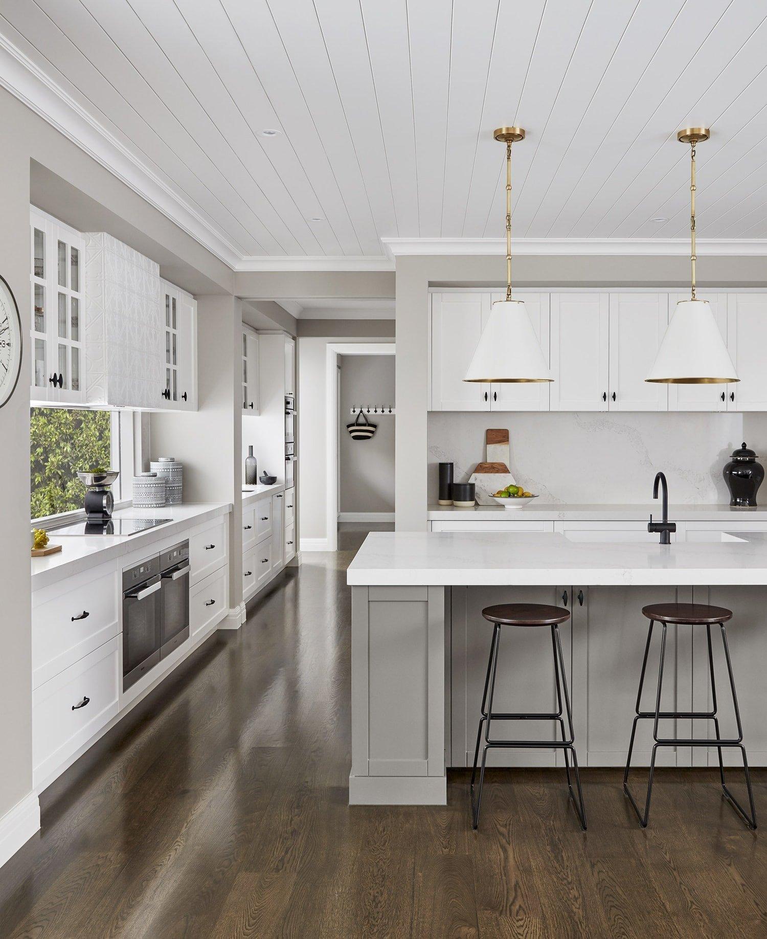 metricon bayville display home hamptons style kitchen