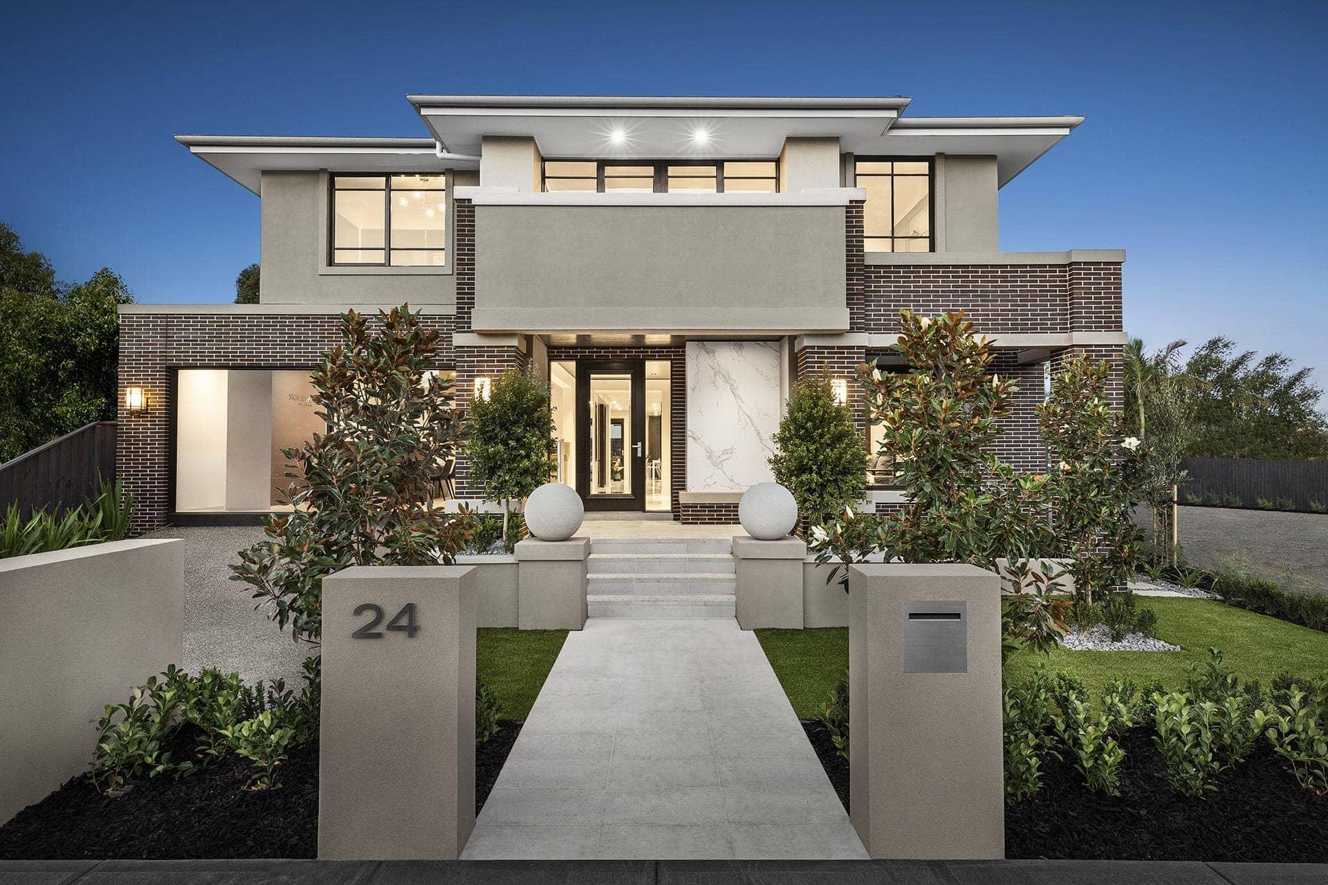 metricon hampshire display home with empire facade