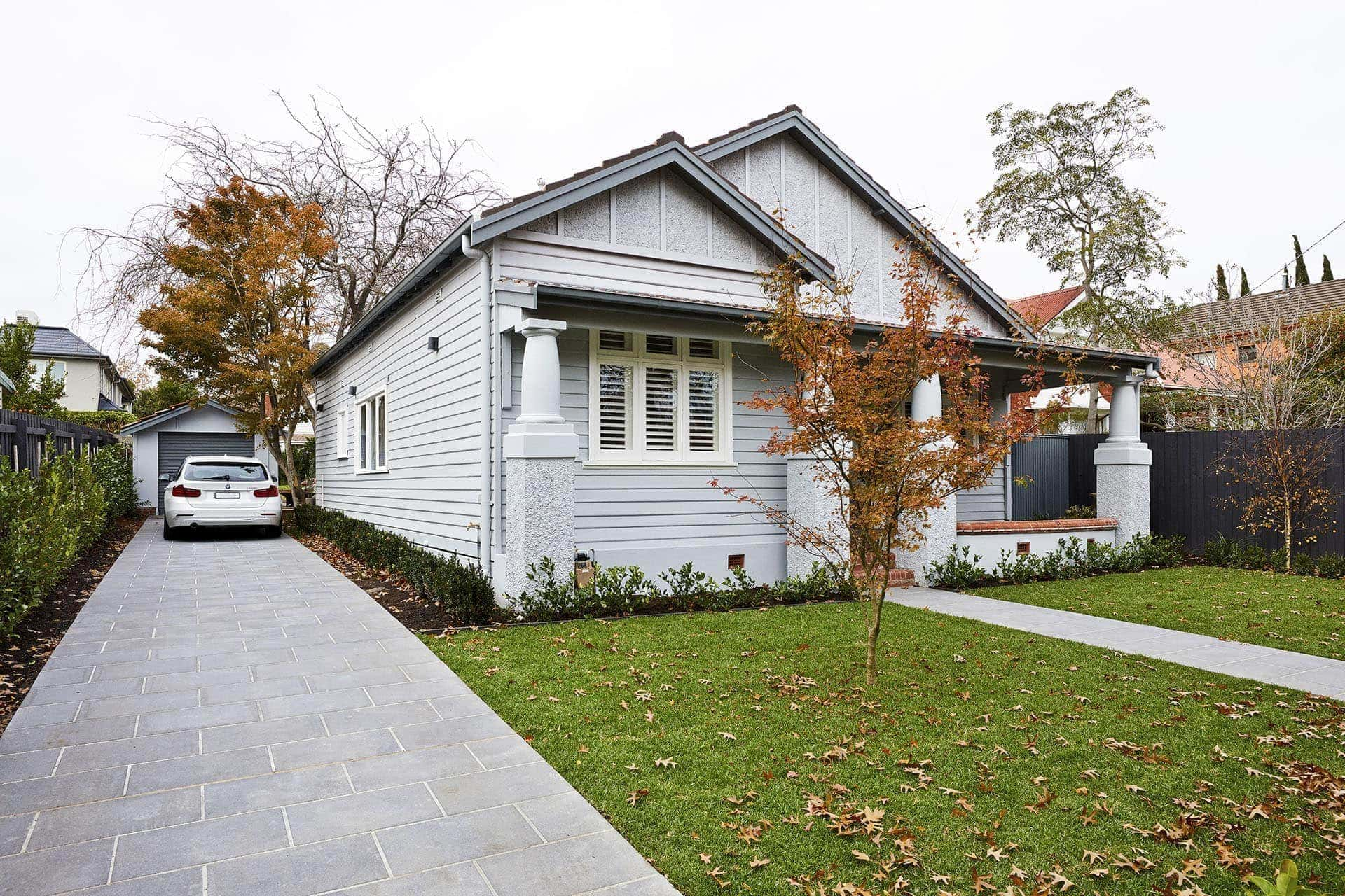 norsu interiors house exterior with weatherboard cladding