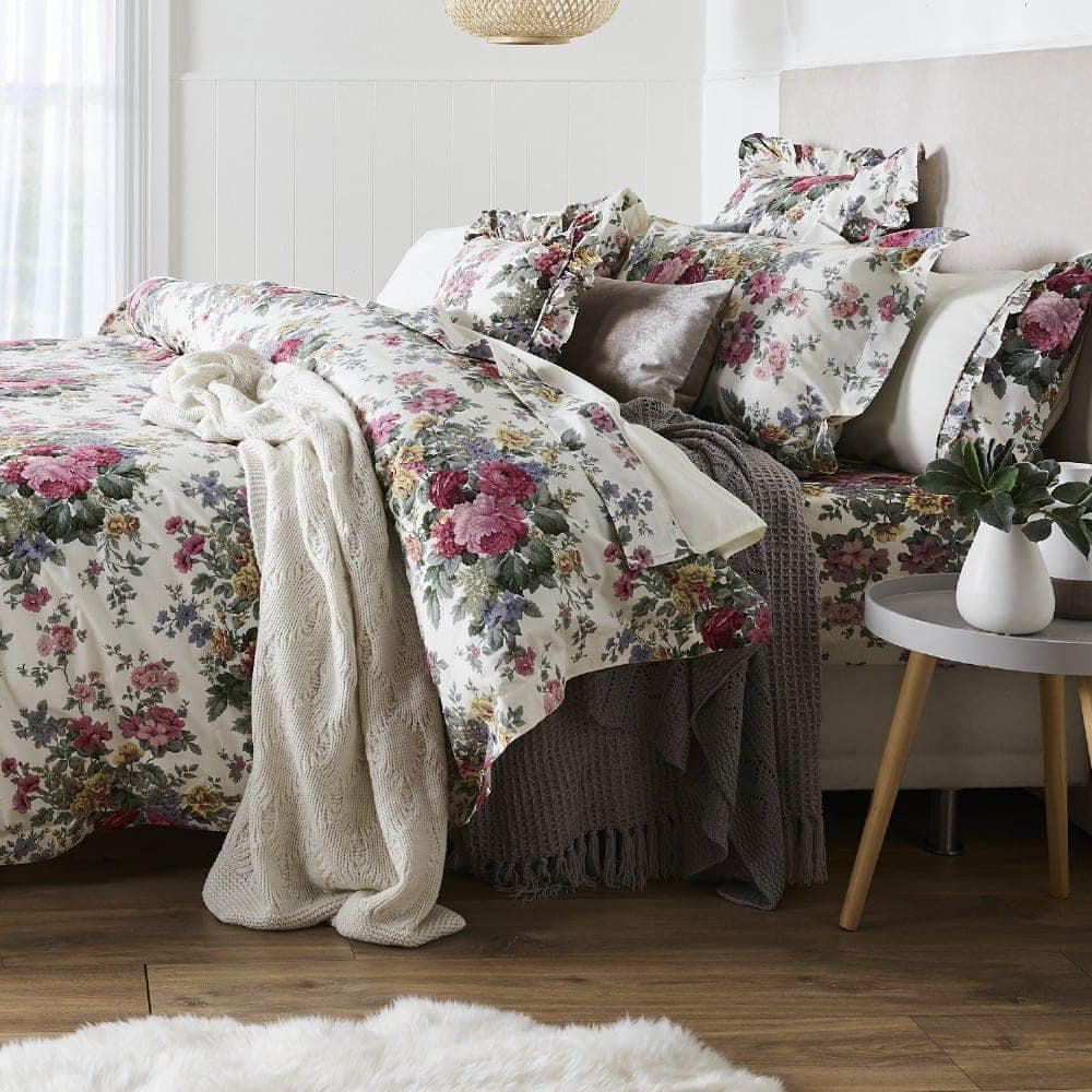 Gainsborough Rosewood Floral Quilt Cover Set from spotlight