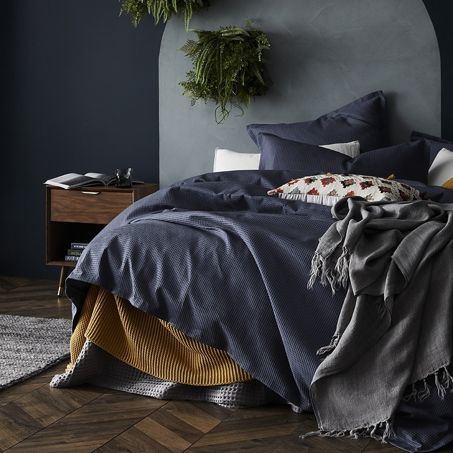 adairs navy blue bedding for teenage boys room