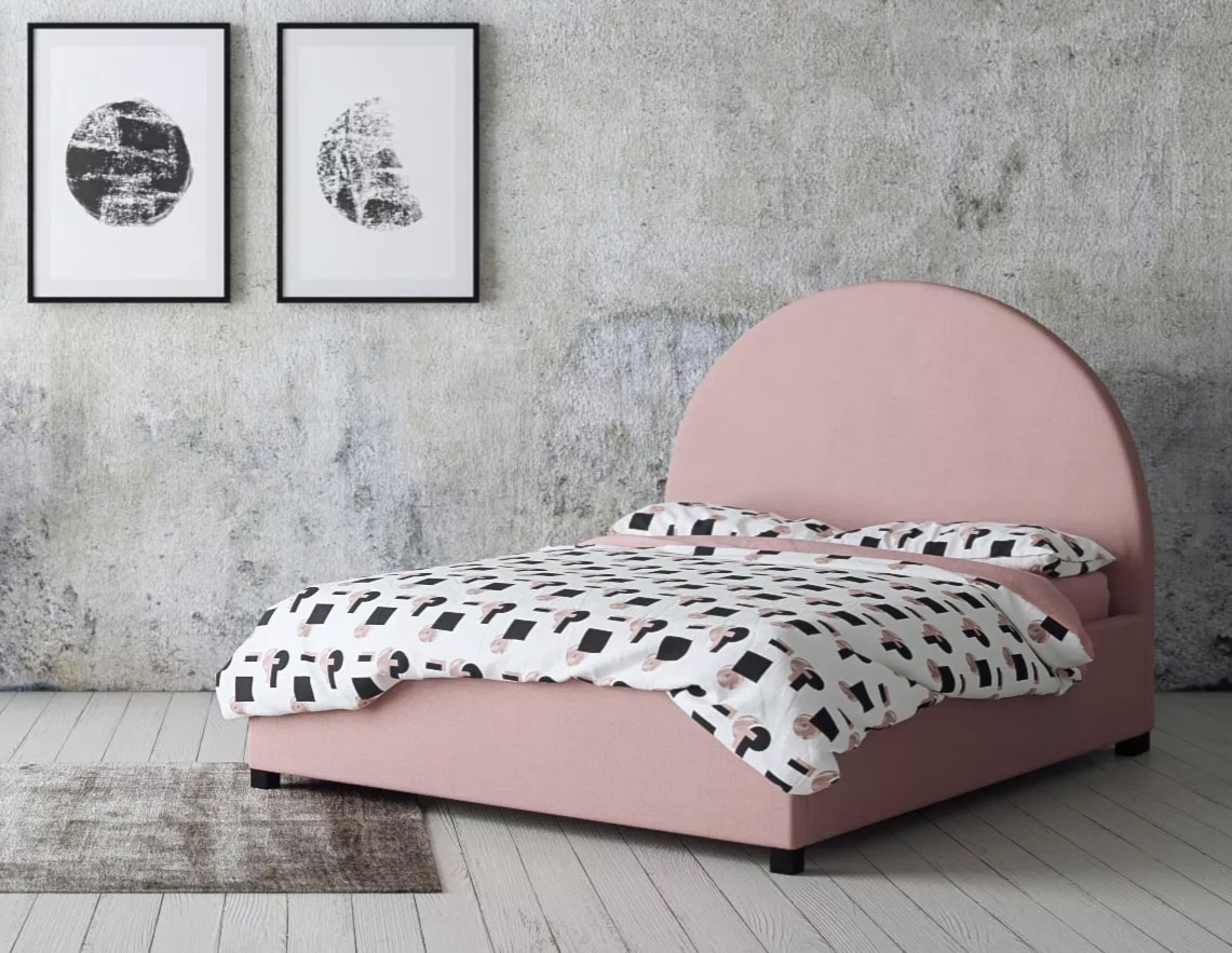 brosa pink arch bed pink fabric bed