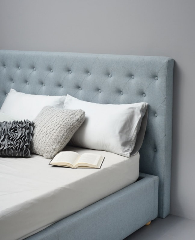 dustin light blue headboard with button detail from interior secrets