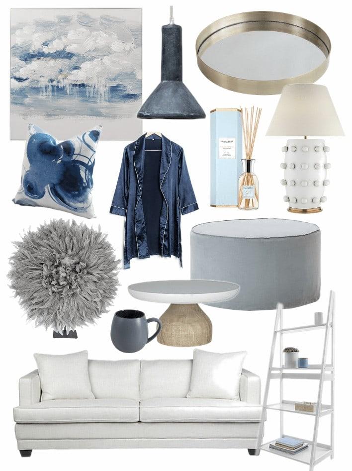 hamptons living room ideas mood board