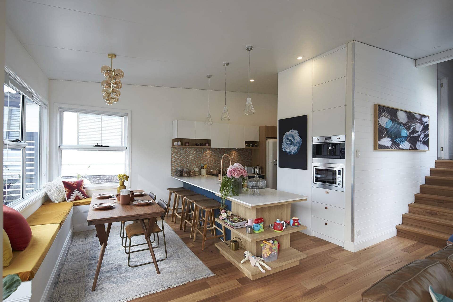 house rules 2018 grand final decider reveal kitchen and dining room