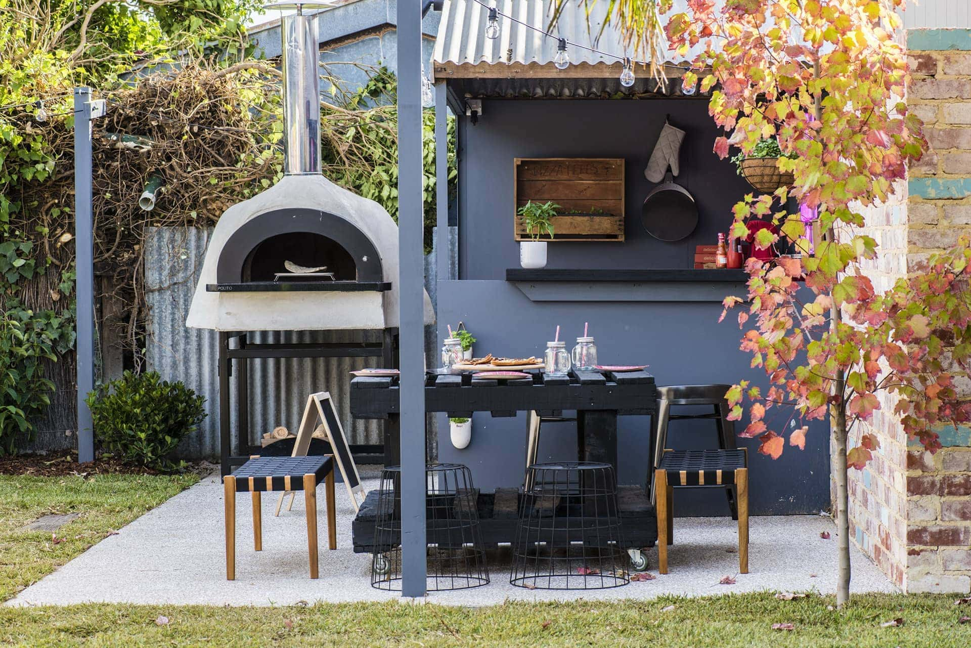 house rules 2018 jess and jared pizza oven backyard