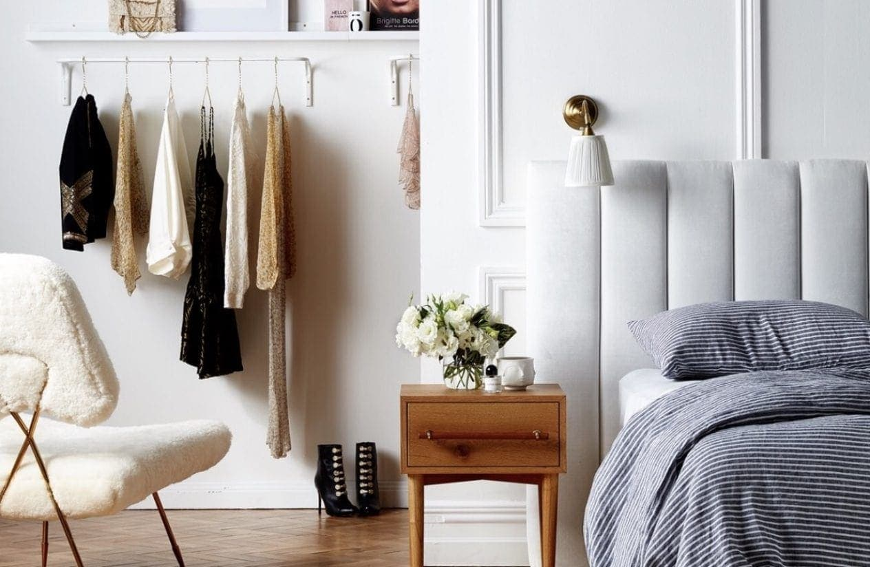lincoln bedhead in white from heatherley design bedheads