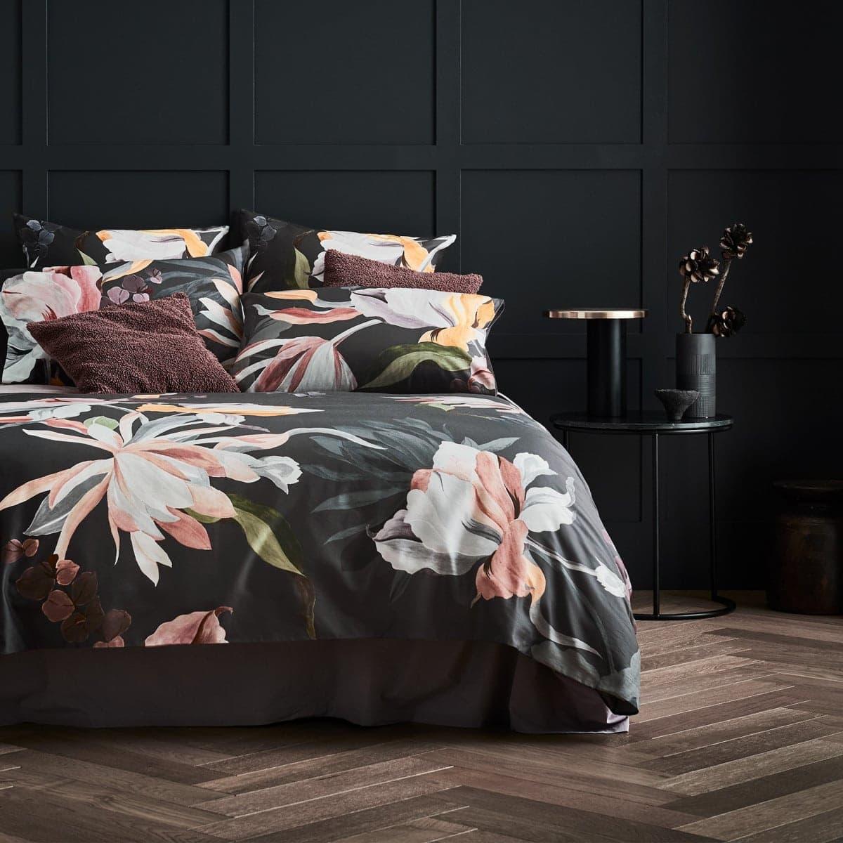 sheridan everly floral quilt cover set dark floral bedding