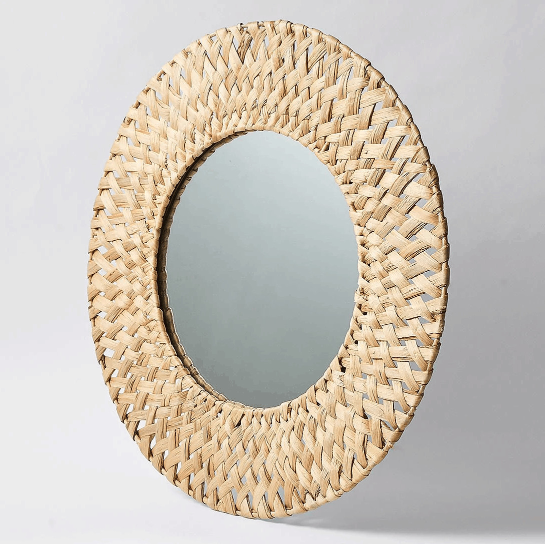 Woven Hyacinth Mirror large round boho mirrow from target
