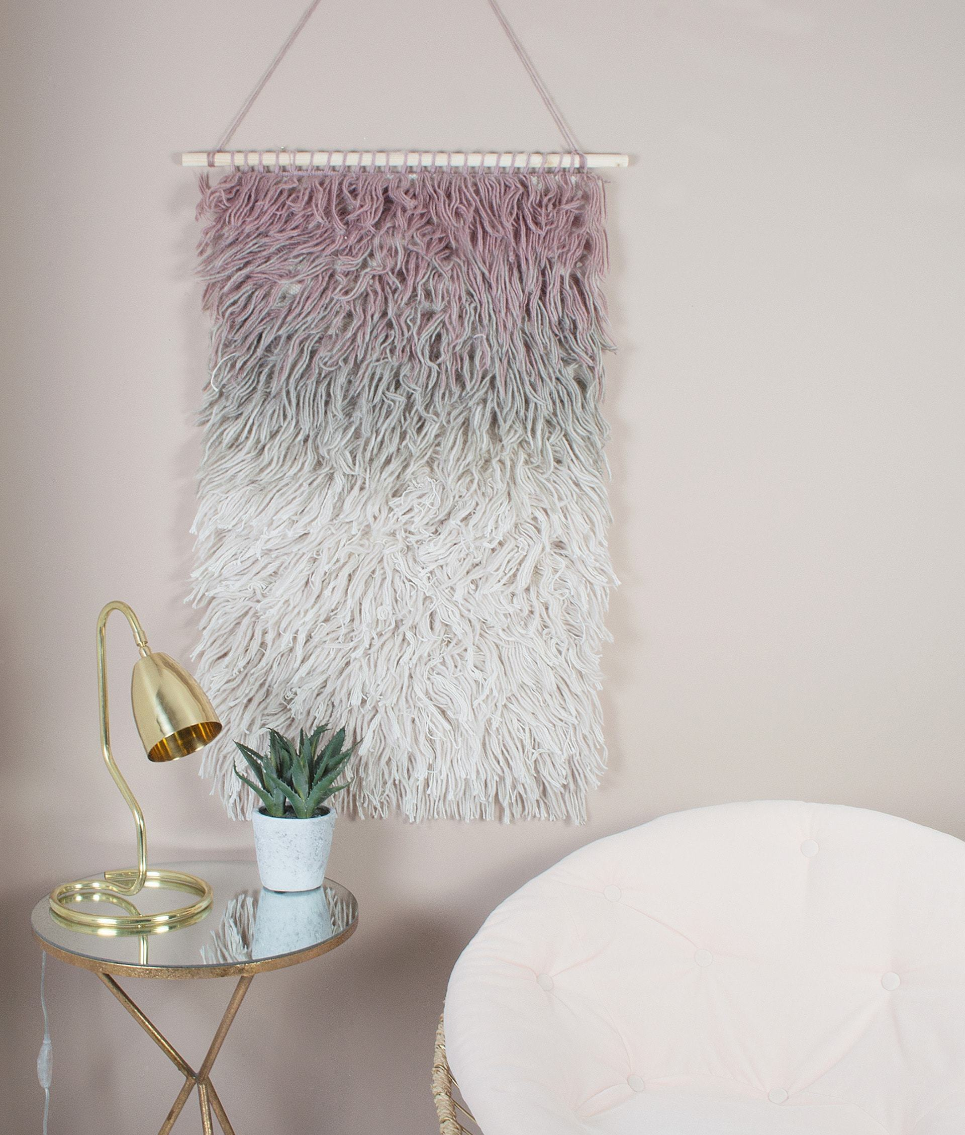 audenze blush macrame wall hanging