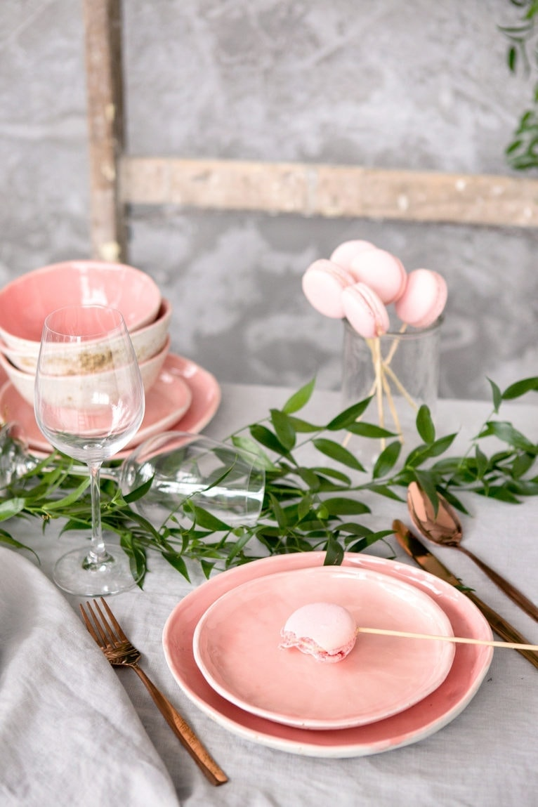 blush pink plate by mr bowl ceramics