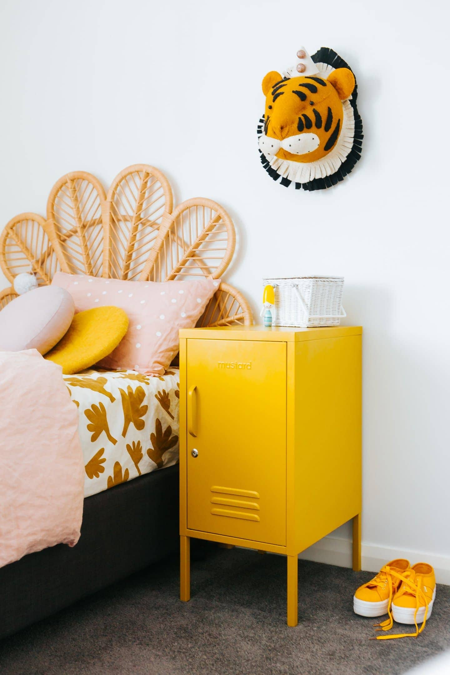 mustard locker by mustard made in little girls room in yellow
