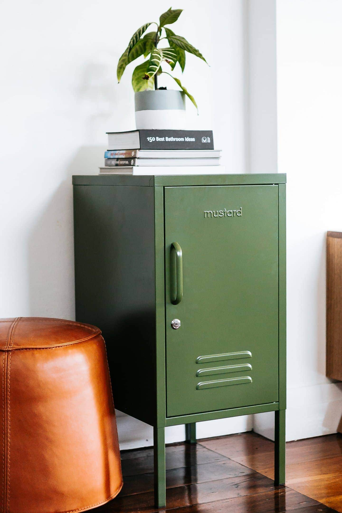 olive green locker by mustard made