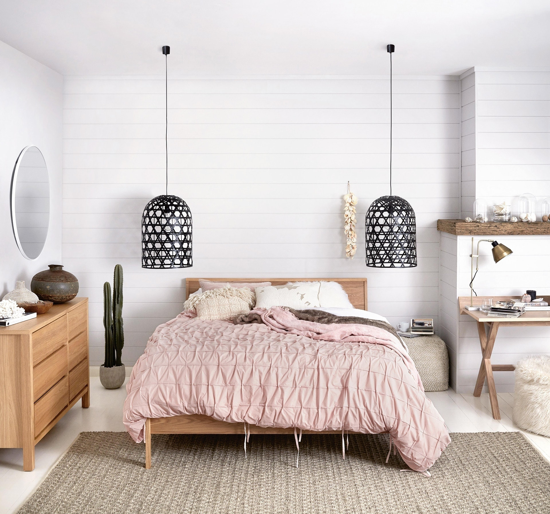 pendants for master bedroom from freedom pink bedding and black pendant lights