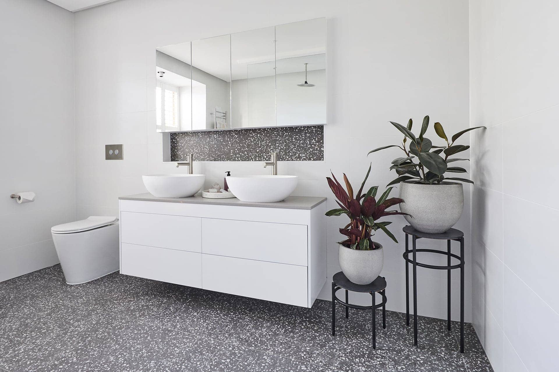 Inside The Block 2018 Ensuites Say No To Terrazzo Tiles