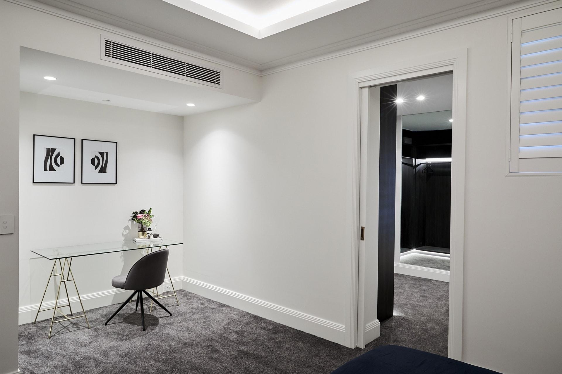 the block 2018 guest bedrooms hayden and sarah desk area