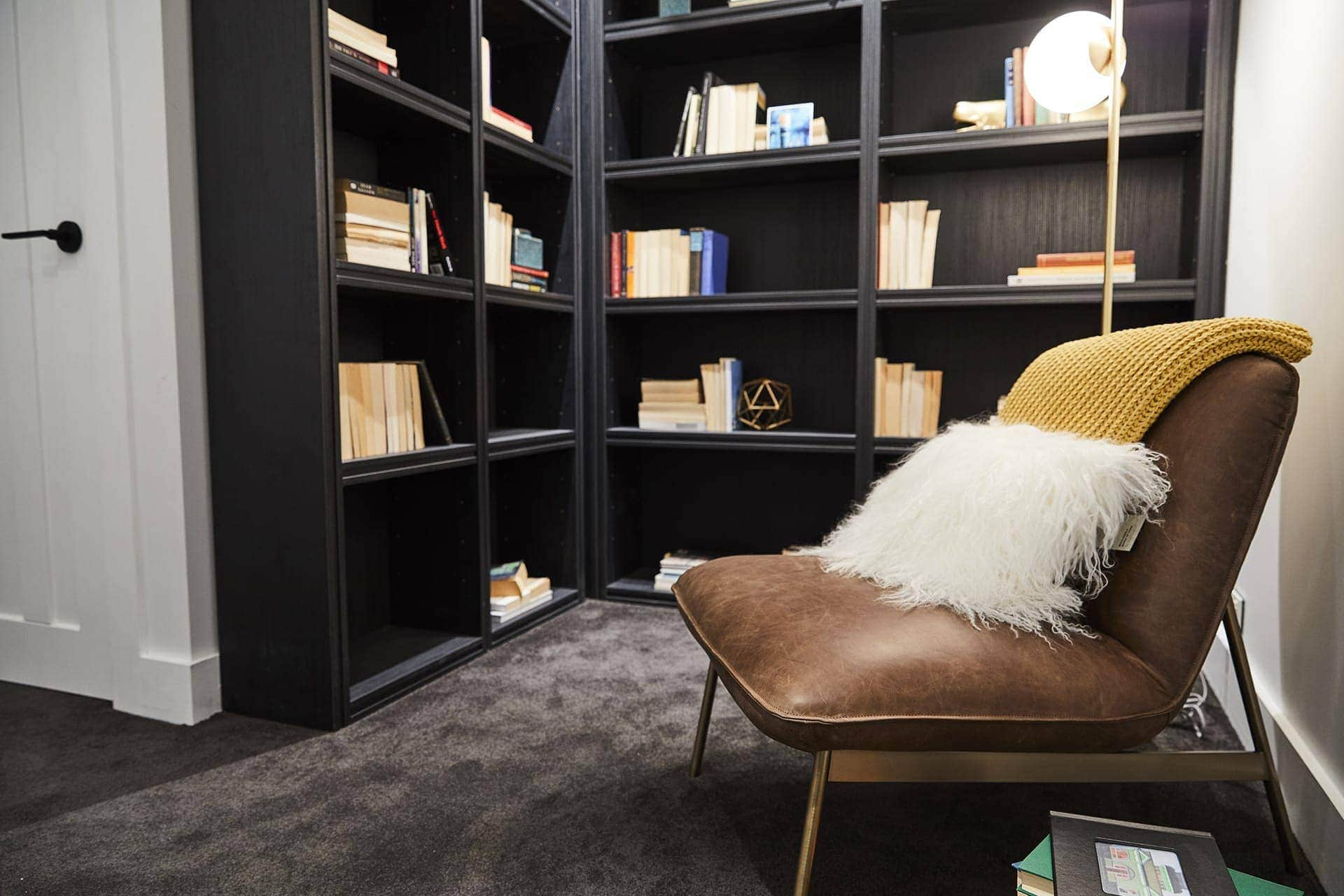 the block 2018 kerrie and spence guest bedroom reading nook