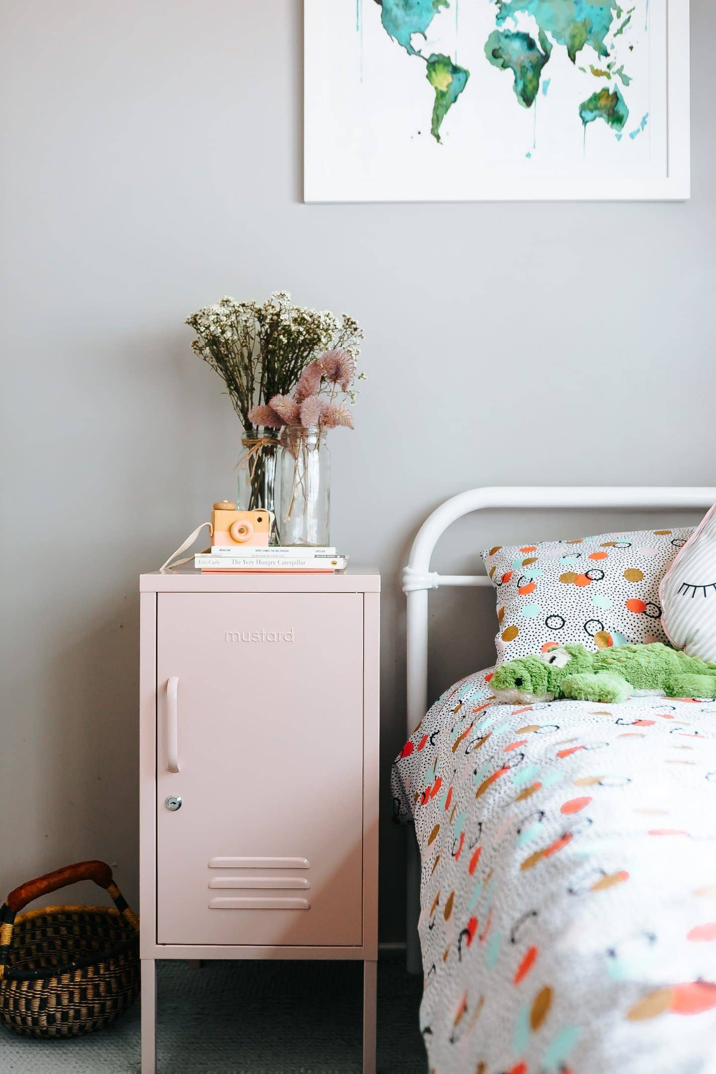 the shorty pink locker bedside from mustard