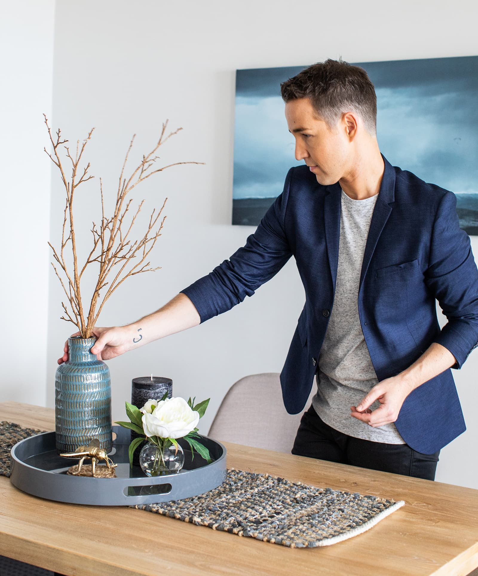 chris carroll tlc interiors dining room table styling