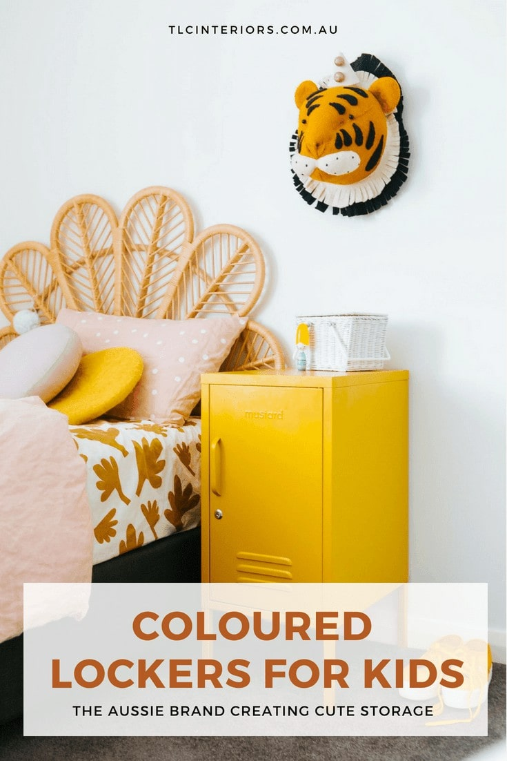 coloured lockers by mustard made storage ideas for kids rooms