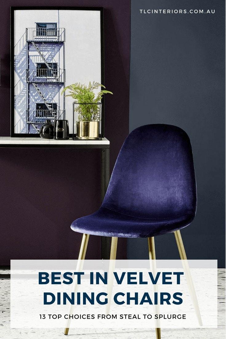 kmart velvet dining chair blue chair in velve from kmart