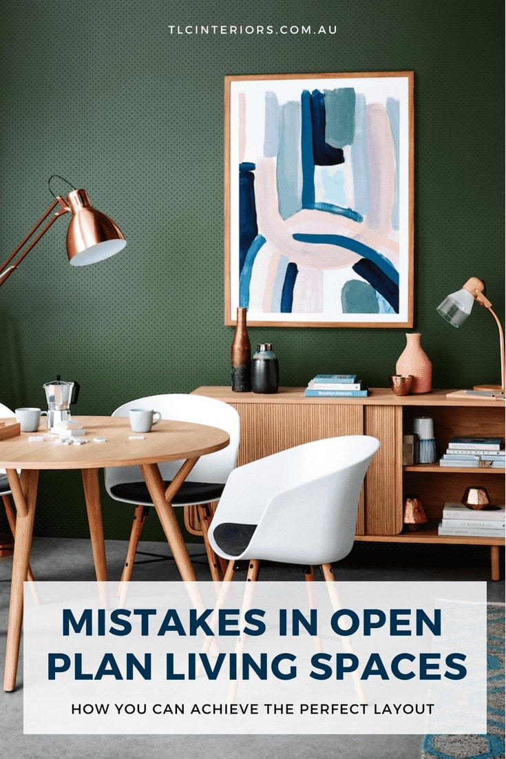 open plan living and dining room layout ideas from freedom dark green feature wall