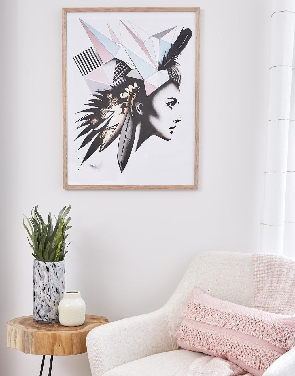scandinavian female head artwork by matt stewart tlc interiors