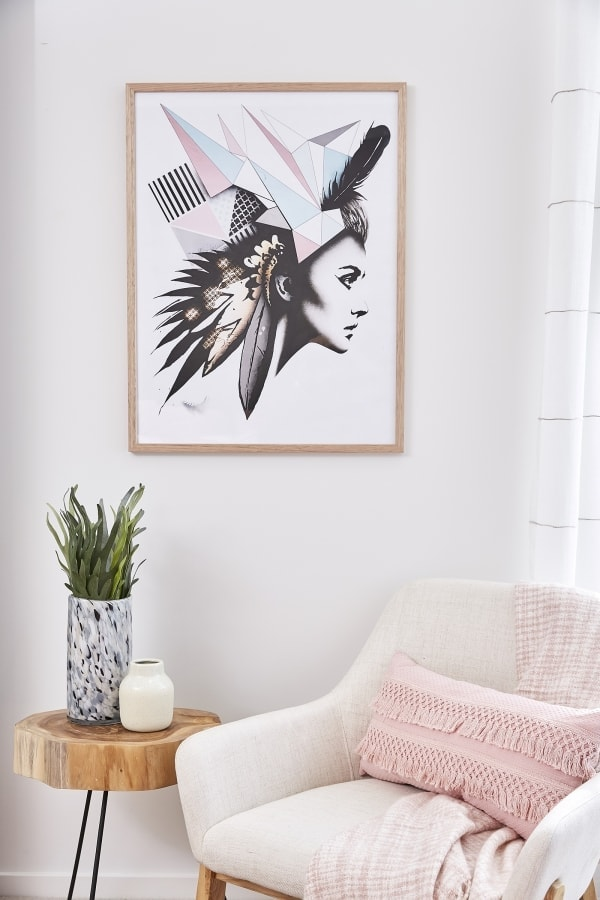 scandinavian female head artwork by matt stewart tlc interiors