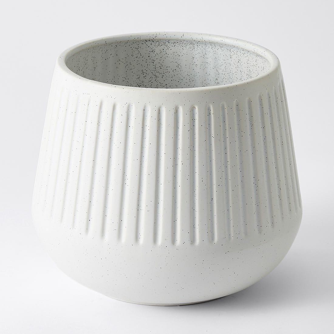 target white ceramic plant pot