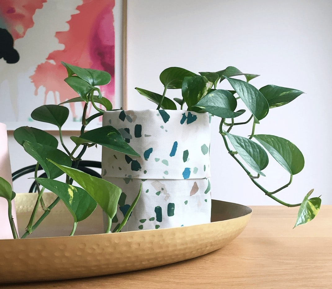 terrazzo plant pot from miss pots pouches