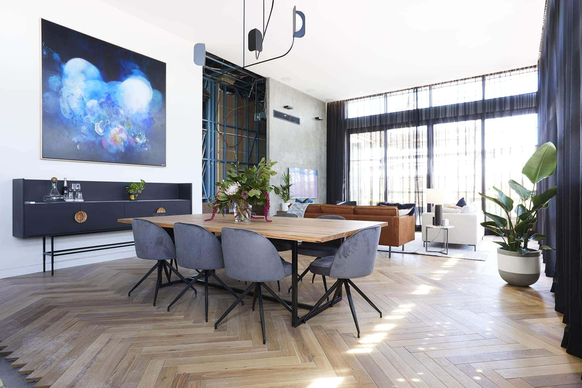 the block 2018 bianca and carla living room dining room