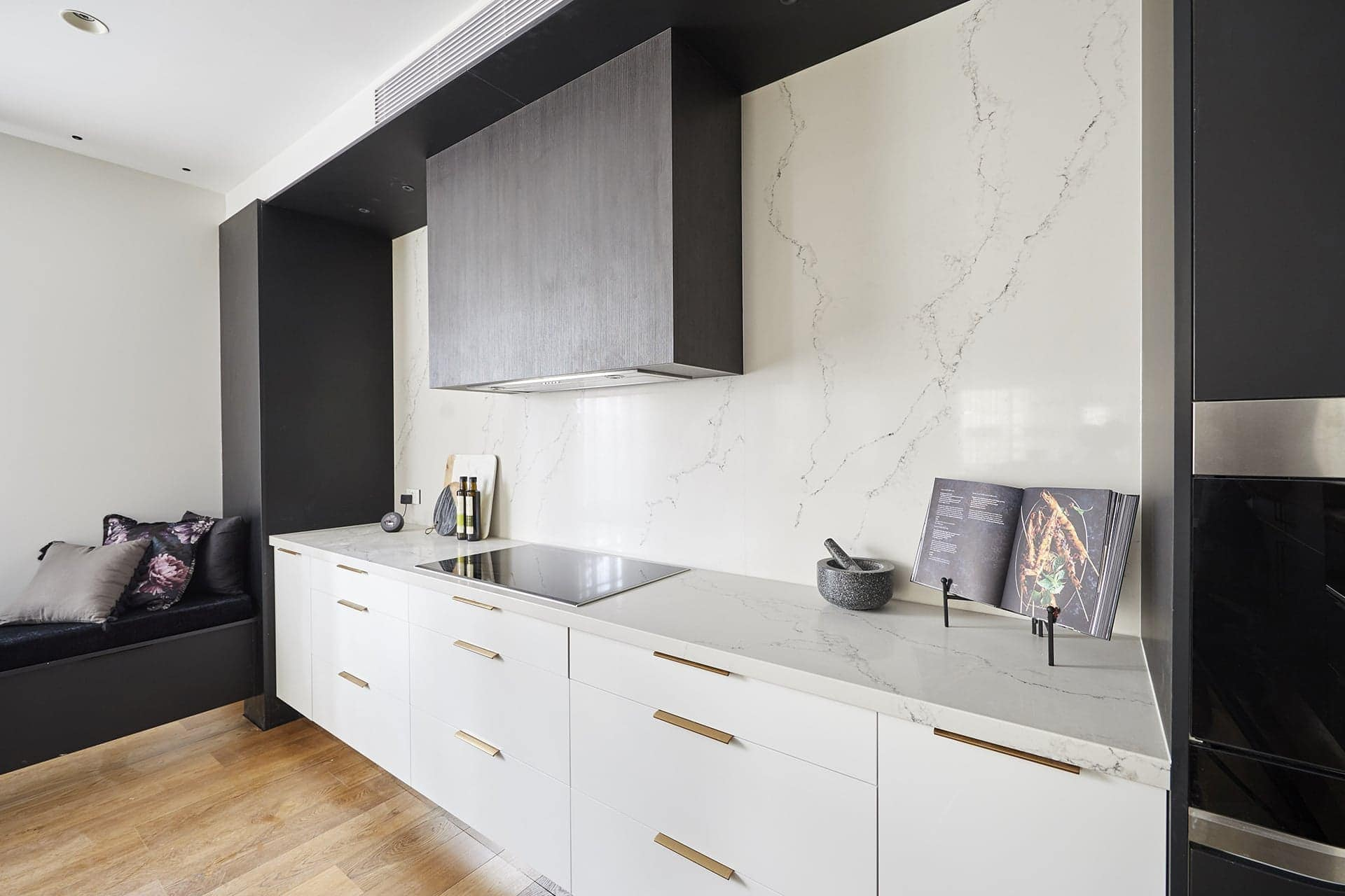 the block 2018 kitchens hayden and sara kitchen with marble splashback