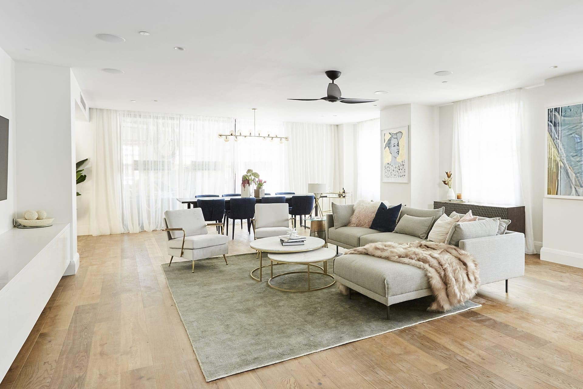 the block 2018 living rooms hayden and sara living room sofa