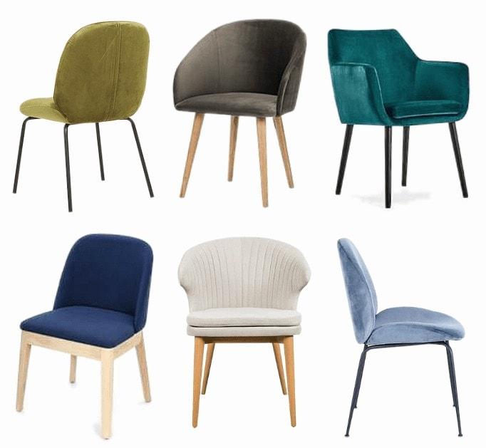 velvet dining chair in jewel tones mood board