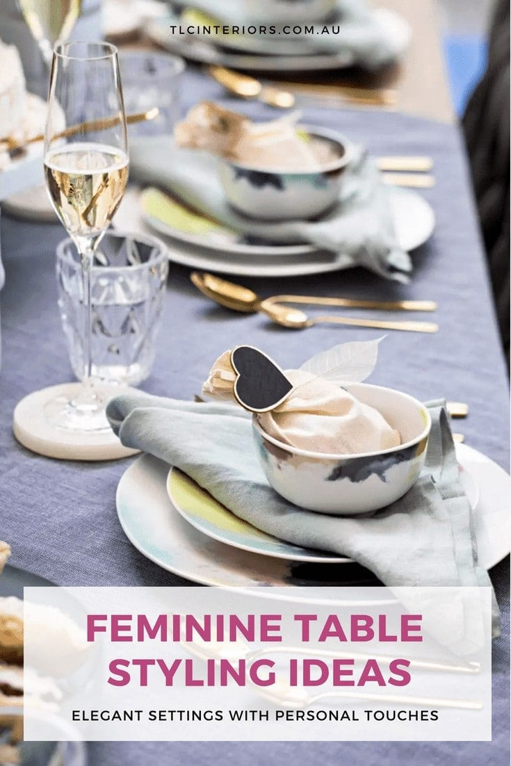 feminine table styling ideas floral dinnerware from salt and pepper