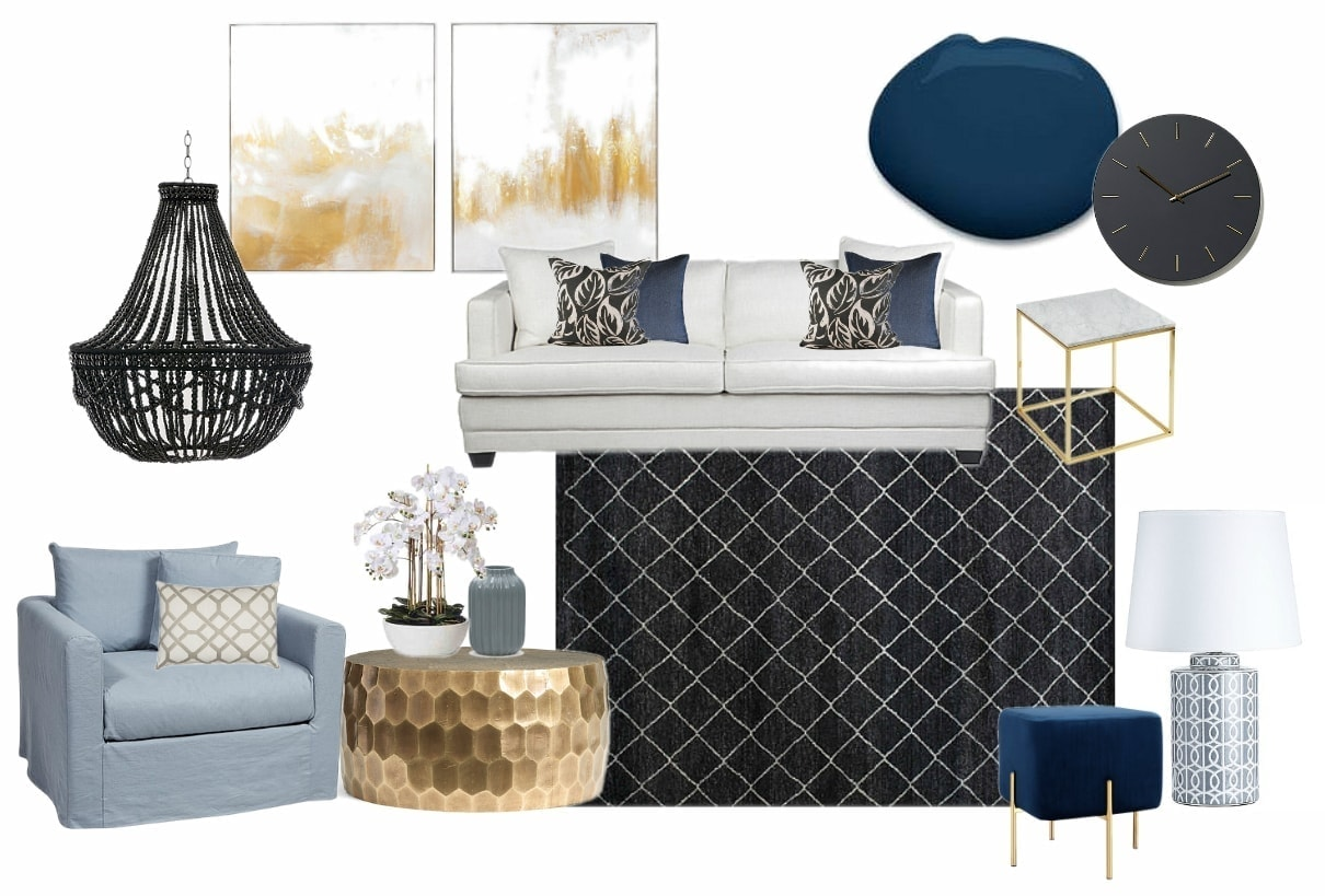 glamorous hamptons interior design ideas mood board by tlc interiors