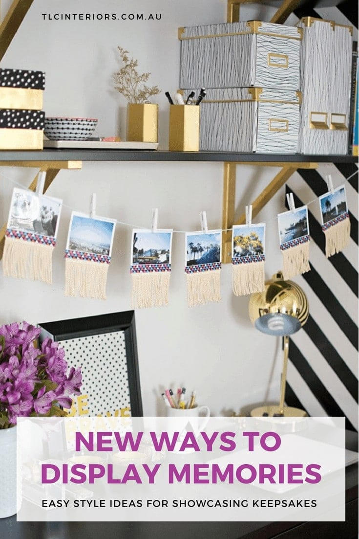 ideas for displaying polaroid photos by west elm
