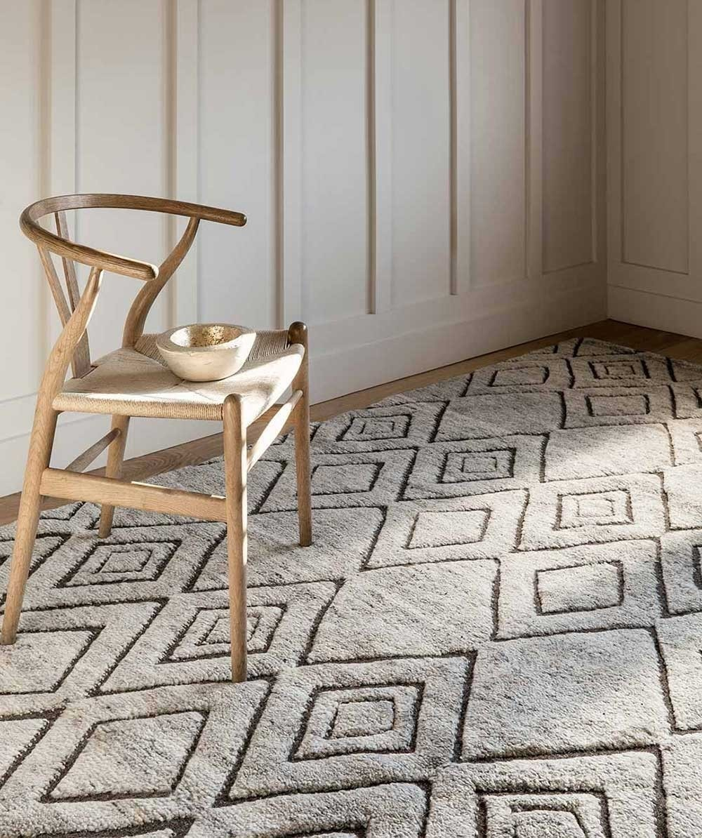 large floor rugs by armadillo and co with a tribal pattern