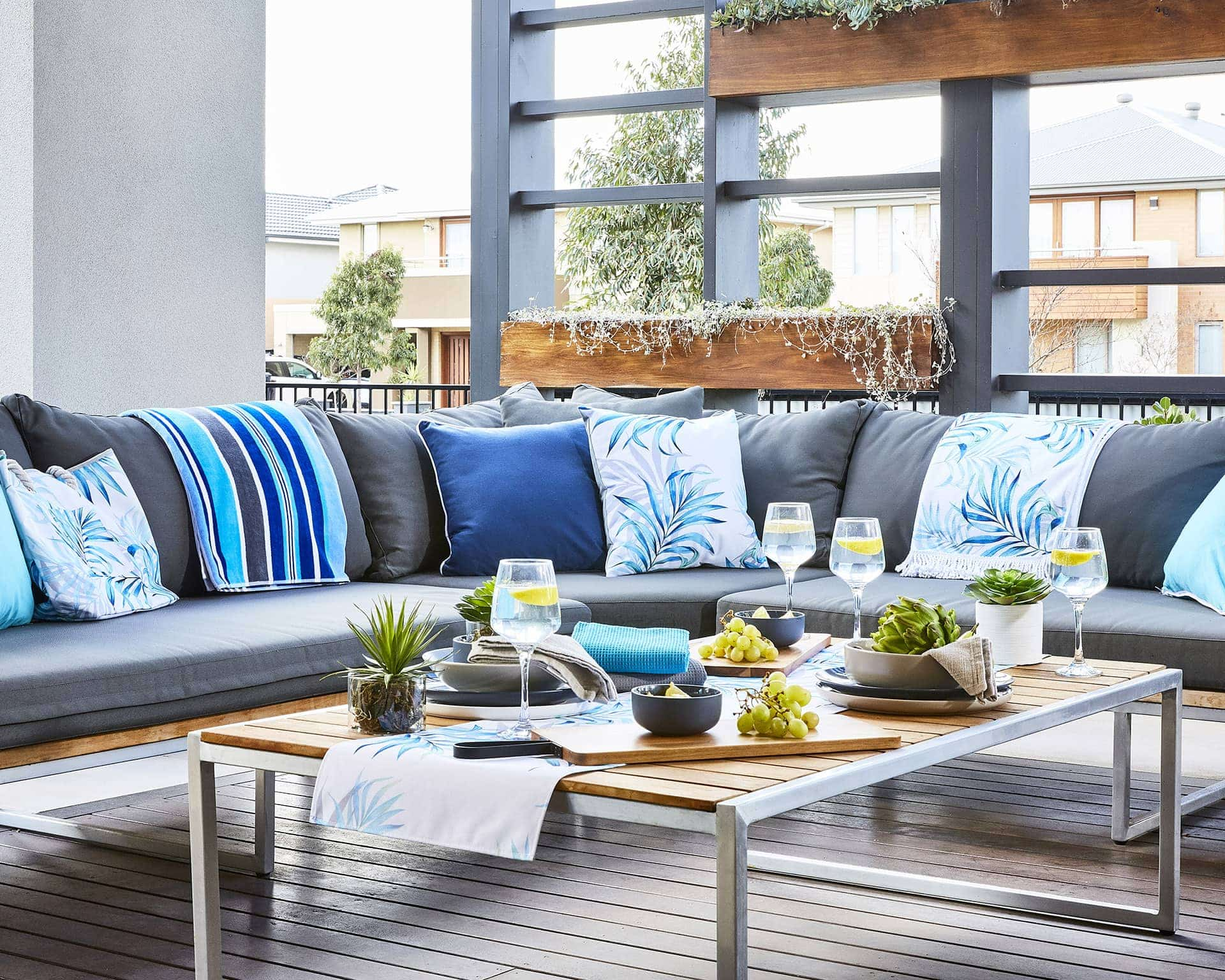 spring decorating ideas from lorraine lea outdoor cushions on outdoor furniture lounge set