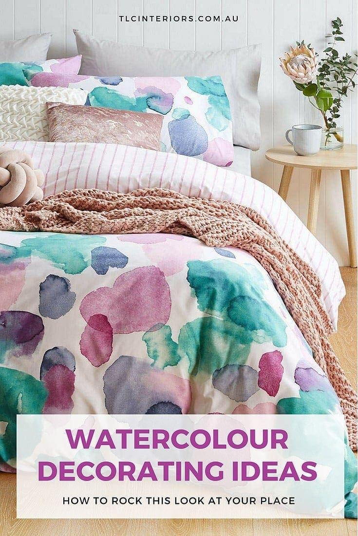 watercolour decorating ideas kmart watercolour quilt cover set