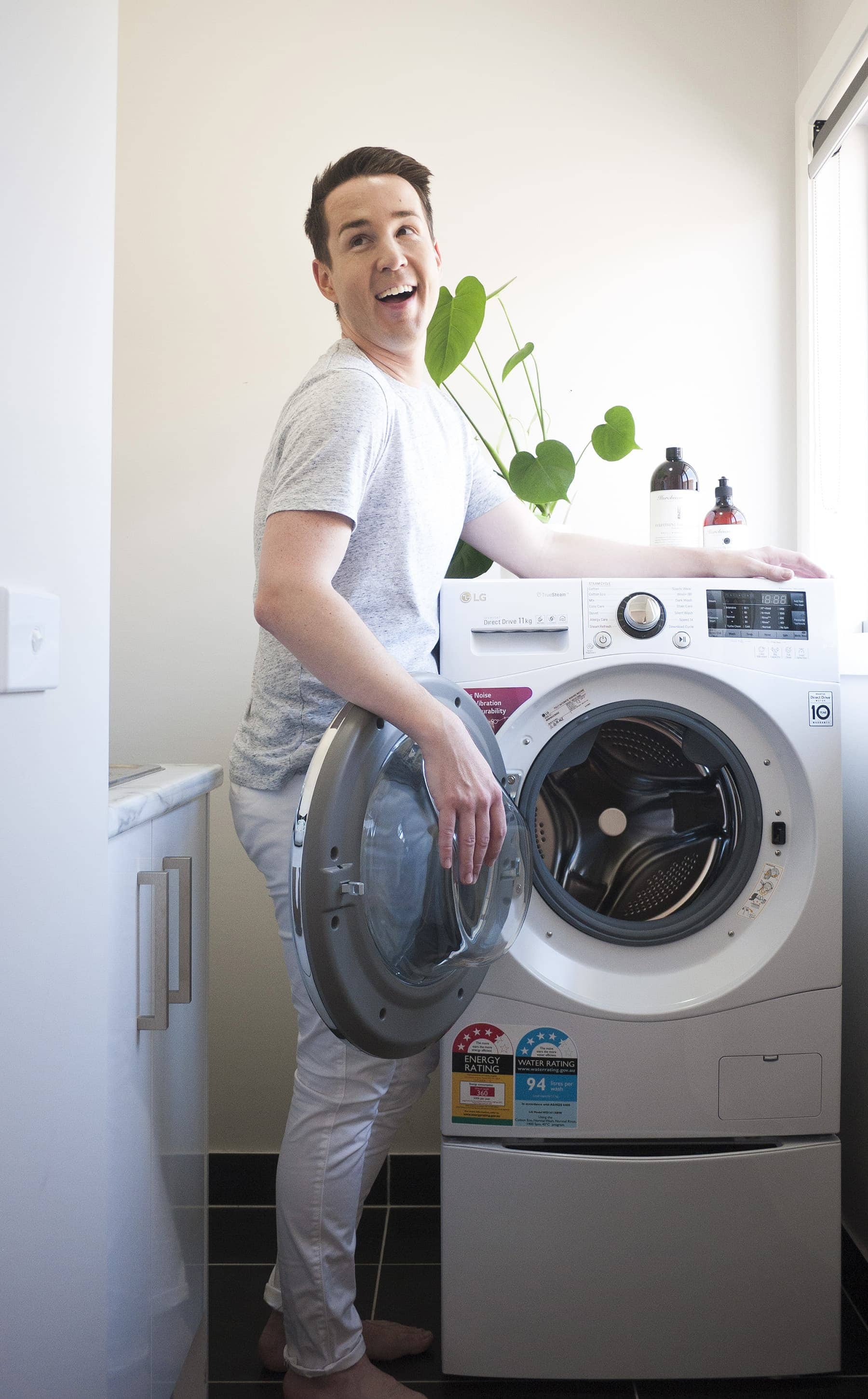 Chris Carroll LG TwinWash washing machine review by tlc interiors
