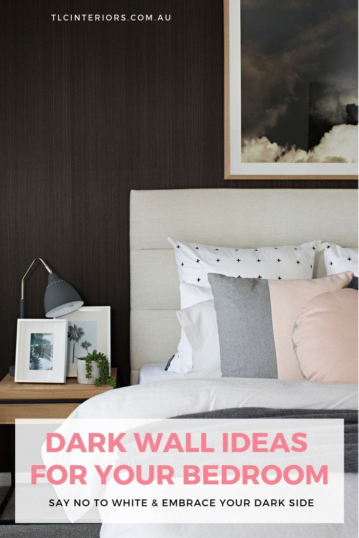 dark wall ideas for master bedrooms dark brown feature wall with beige bedhead