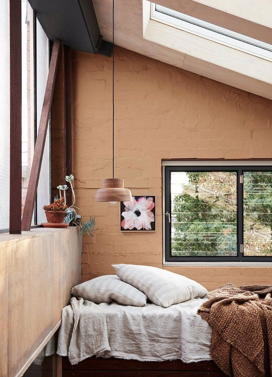 dulux terracotta feature wall home colour trends 2019