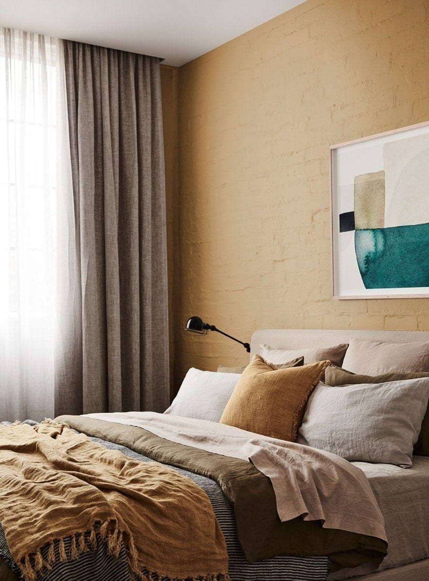 dulux yellow brick feature wall home colour trends 2019