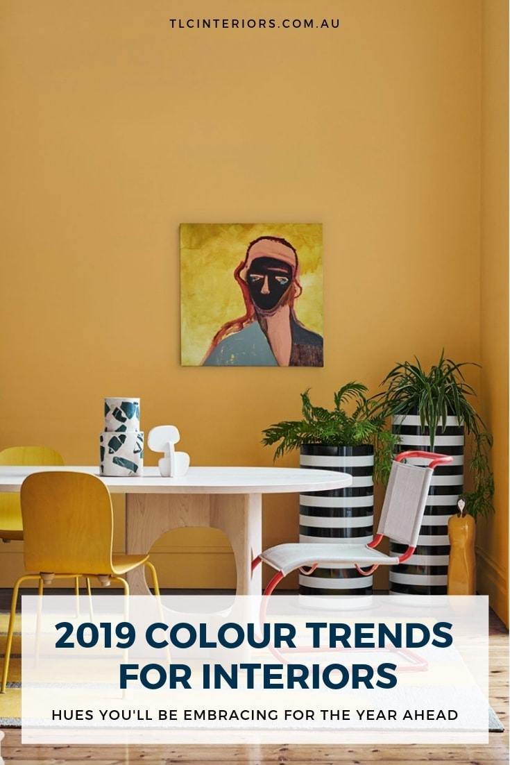 home colour trends for 2019 dulux yellow painted walls