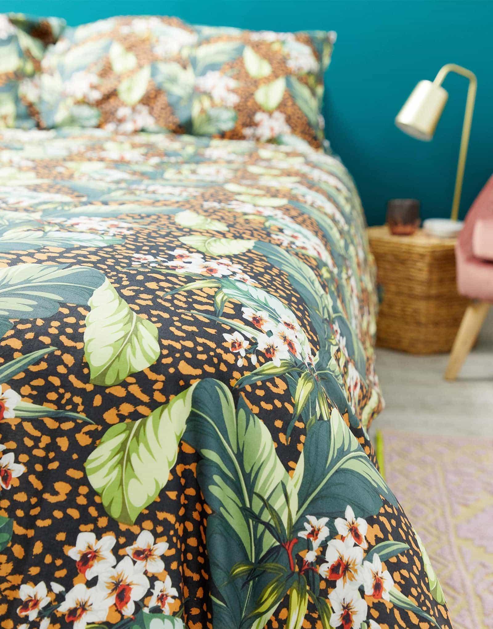 asos leopard print quilt cover set jungle theme bedding