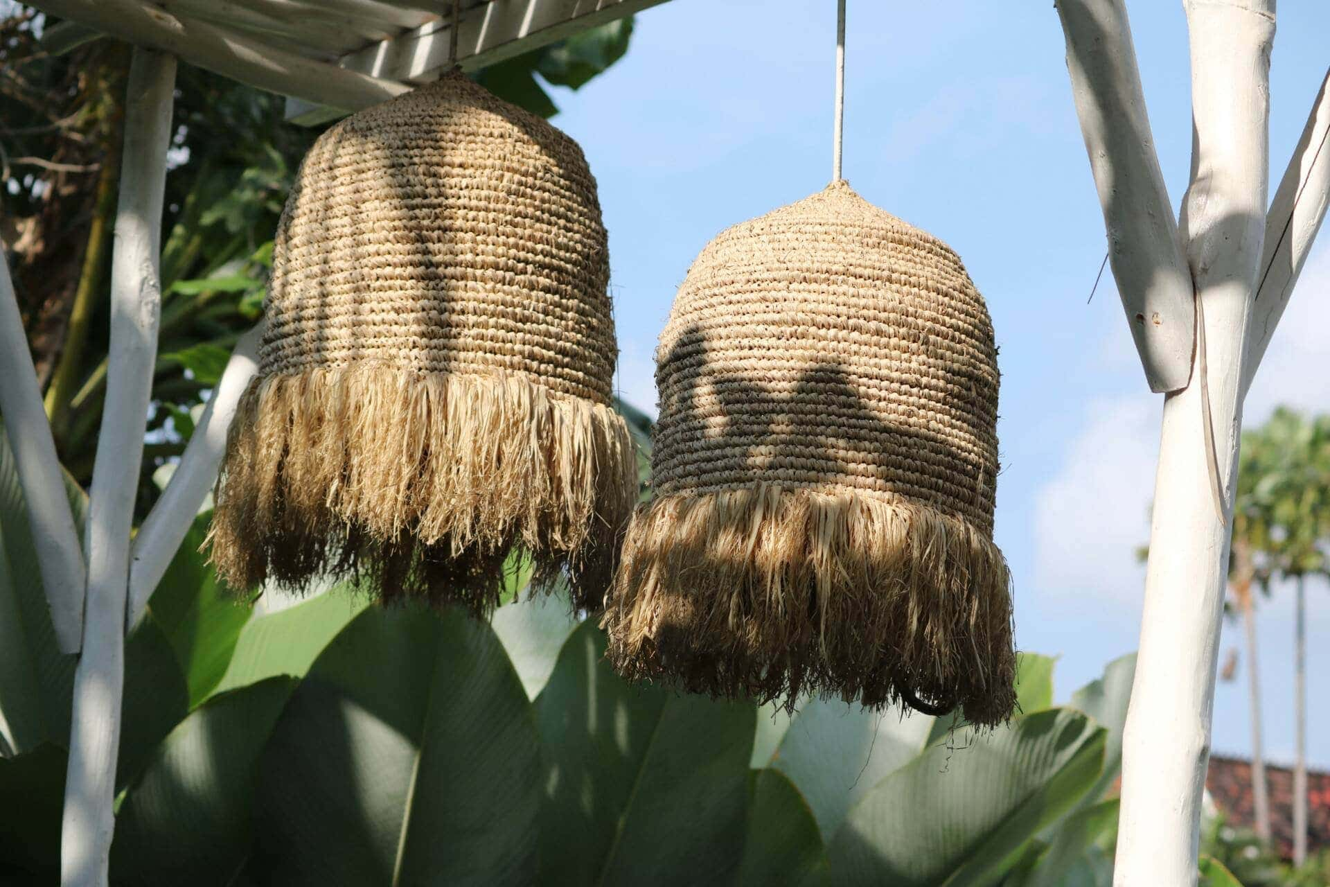 fringe pendant lights for outdoor area balinese style pendant