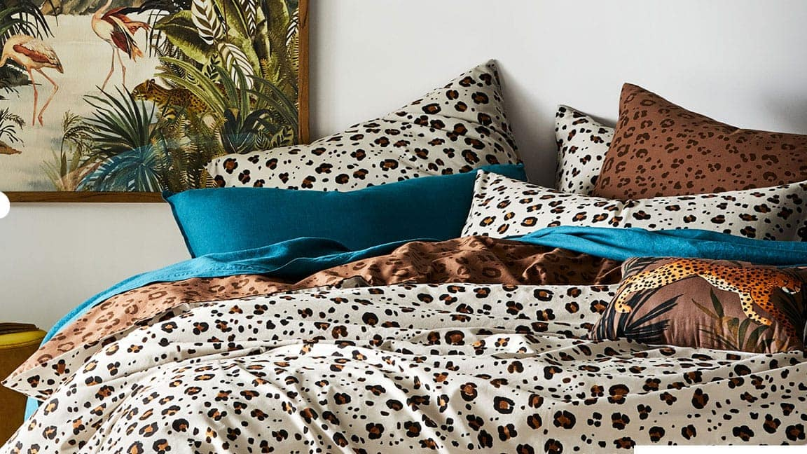 leopard print bedding quilt cover set from adairs